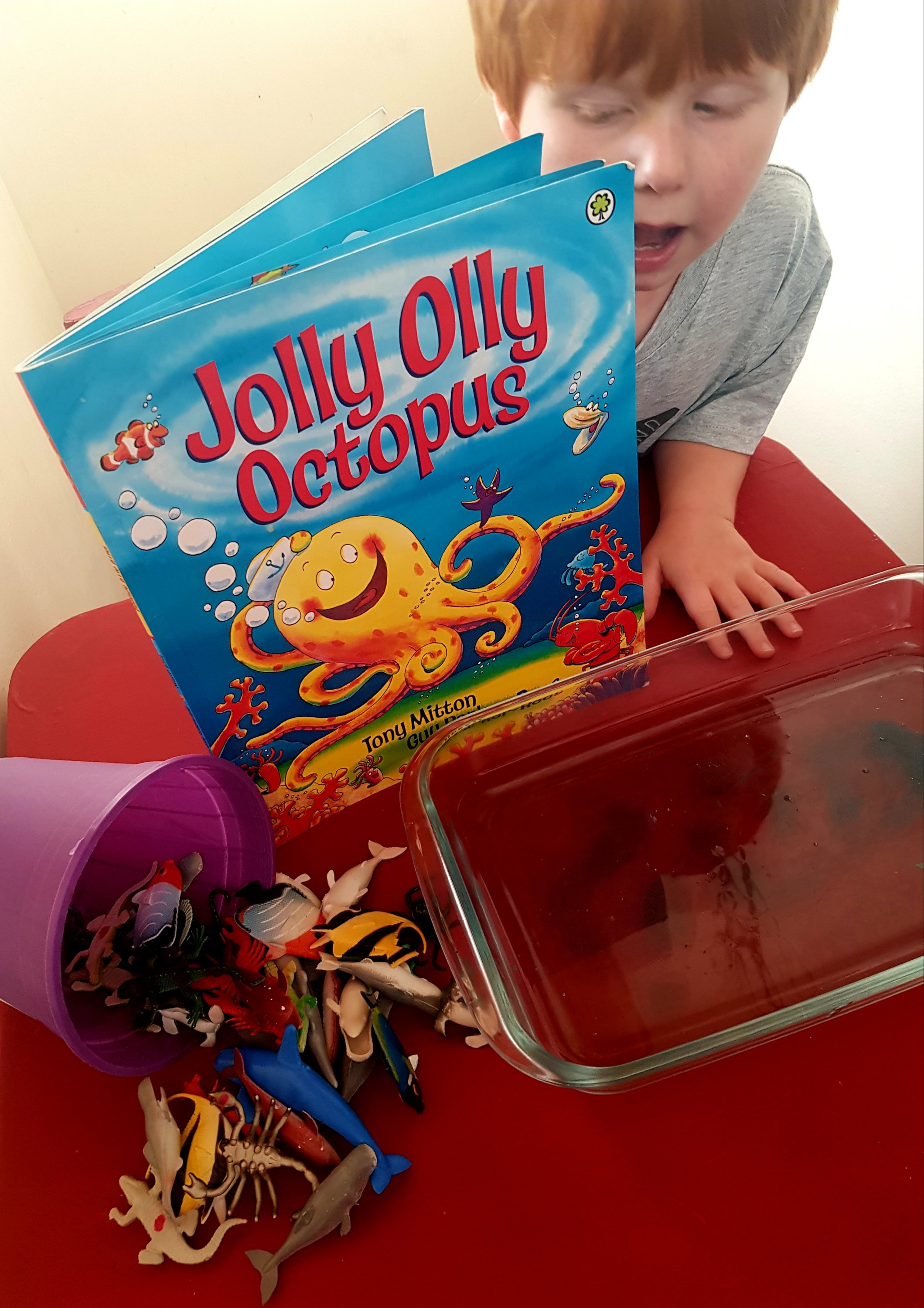 Bookish play with Jolly olly octopus